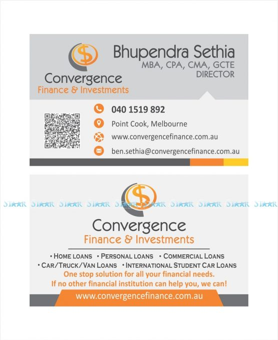 Business Card - Convergence Finance